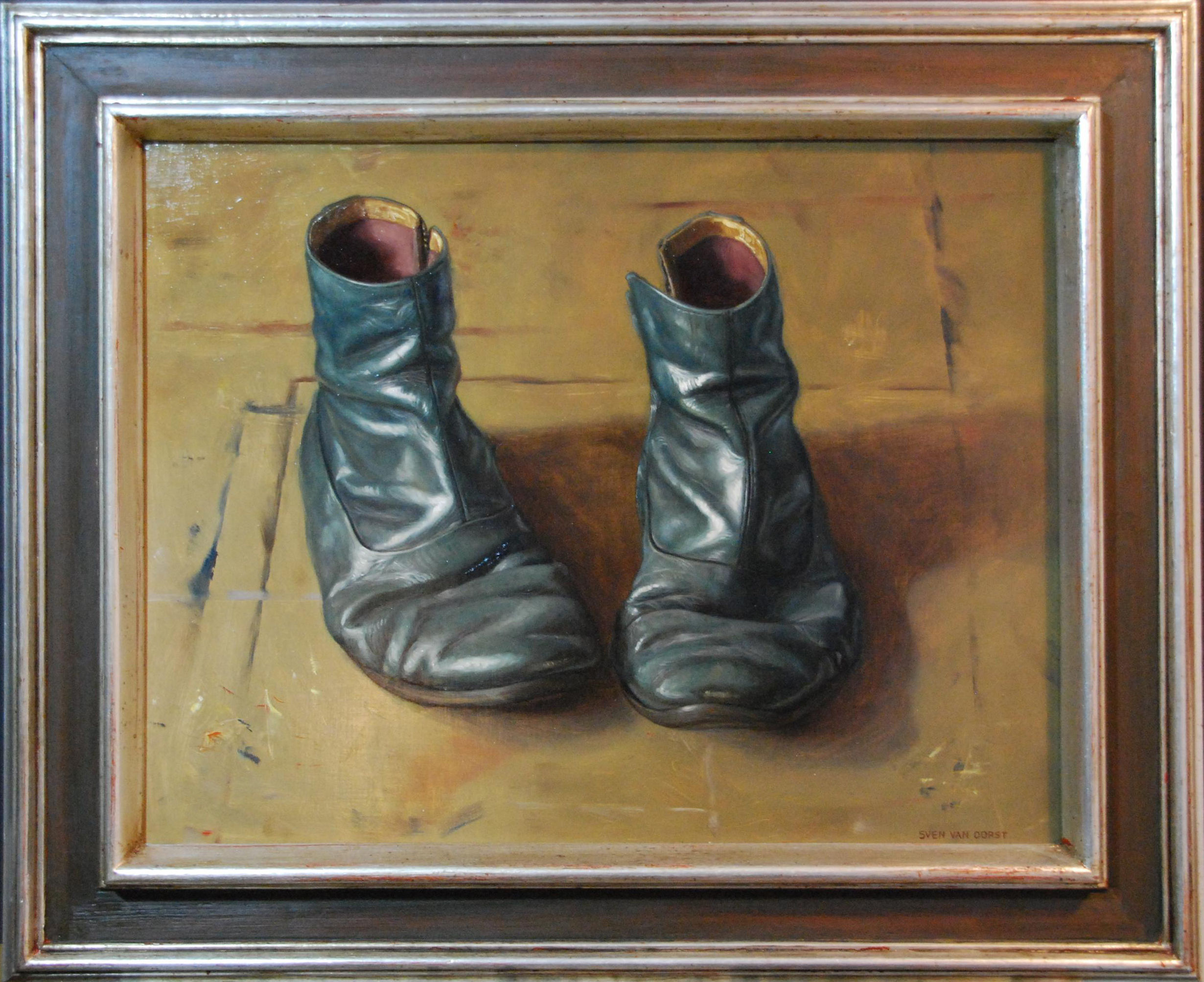 Sven van Dorst Oliver's shoes  Oil on pannel 50 x 60  London, Phyllis Roberts Award (ROI) 2014