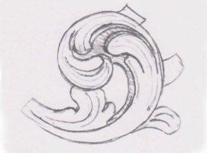 BLADORNAMENT-GEDRAAID-NR.1-tekening-4X3